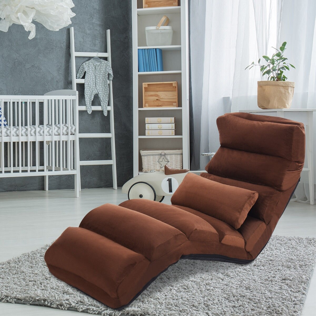 Latitude Run Folding Lazy Chaise Lounge Wayfair