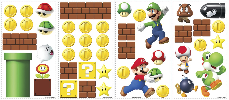 Room Mates Nintendo 45 Piece Super Mario Wall Decal & Reviews   Wayfair