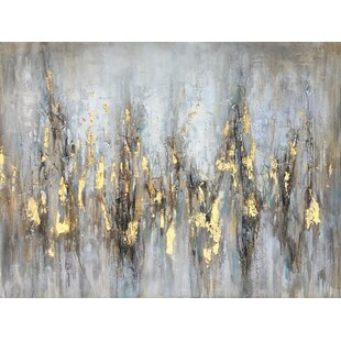 'Gleaming Gold' Oil Painting Print on Wrapped Canvas