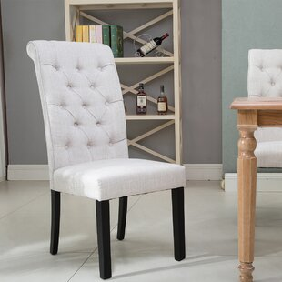 Dupuy Upholstered Parsons Chair Set of 2 by Rosdorf Park