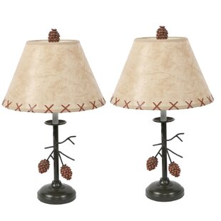 Pine Cone Branch 20 Table Lamp (Set of 2)
