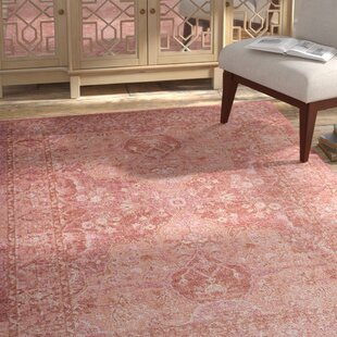 Chauncey Floral Cotton Pink Area Rug by Bungalow Rose