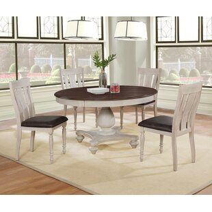 Mixon 5 Piece Solid Wood Dining Set
