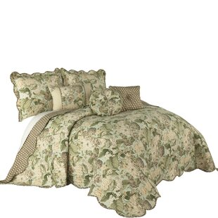 Garden Glory 3 Piece Reversible Coverlet Set
