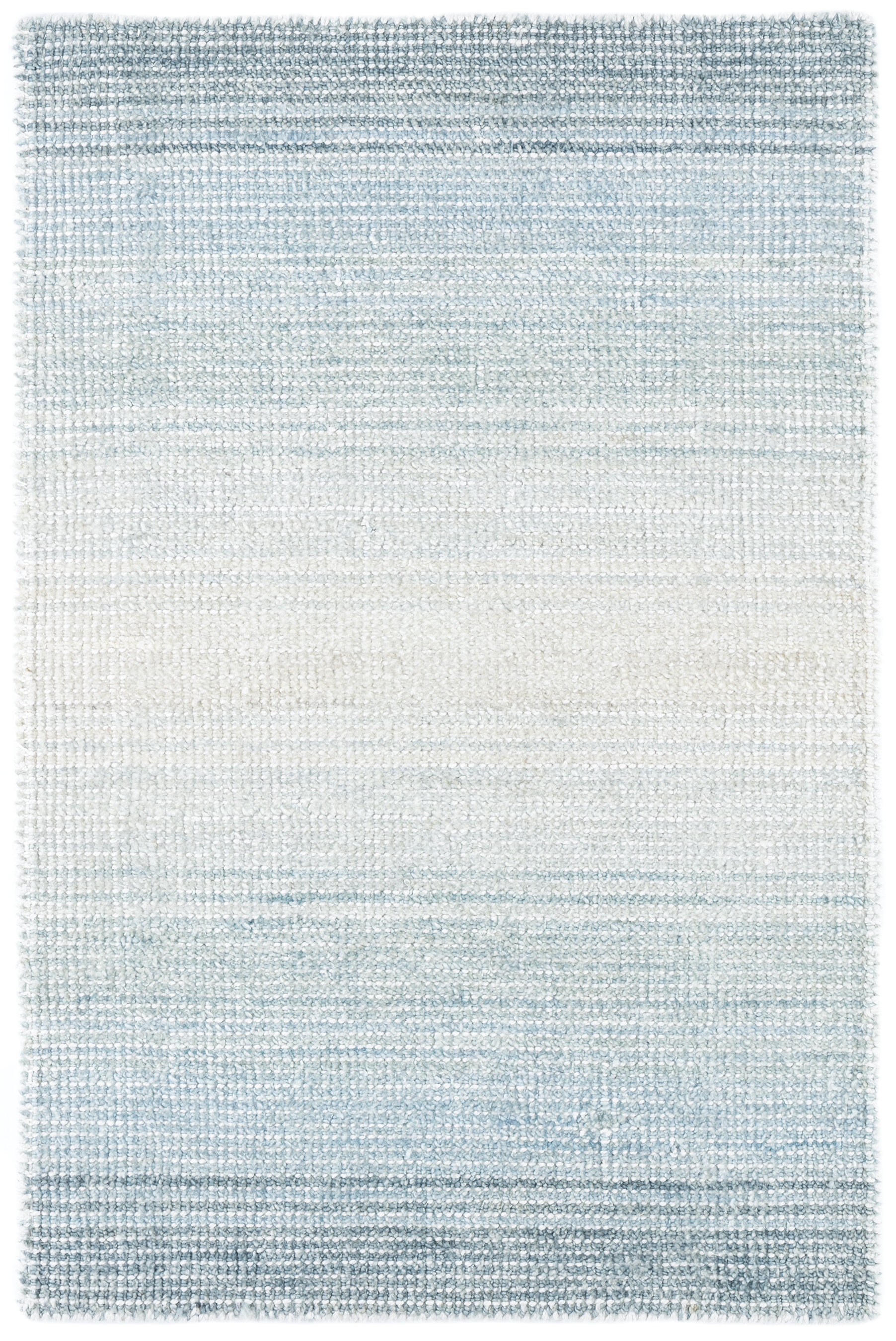 Dash And Albert Rugs Pandora Striped Hand Knotted Light Blue Area Rug Perigold