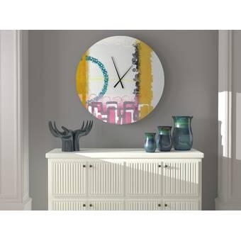 Ebern Designs Sound Right Abstract Metal Wall Clock Wayfair