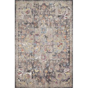 Warden Charcoal/Brown Area Rug byBungalow Rose