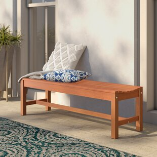 Hendon Wood Garden Bench by Mistana Great Reviews