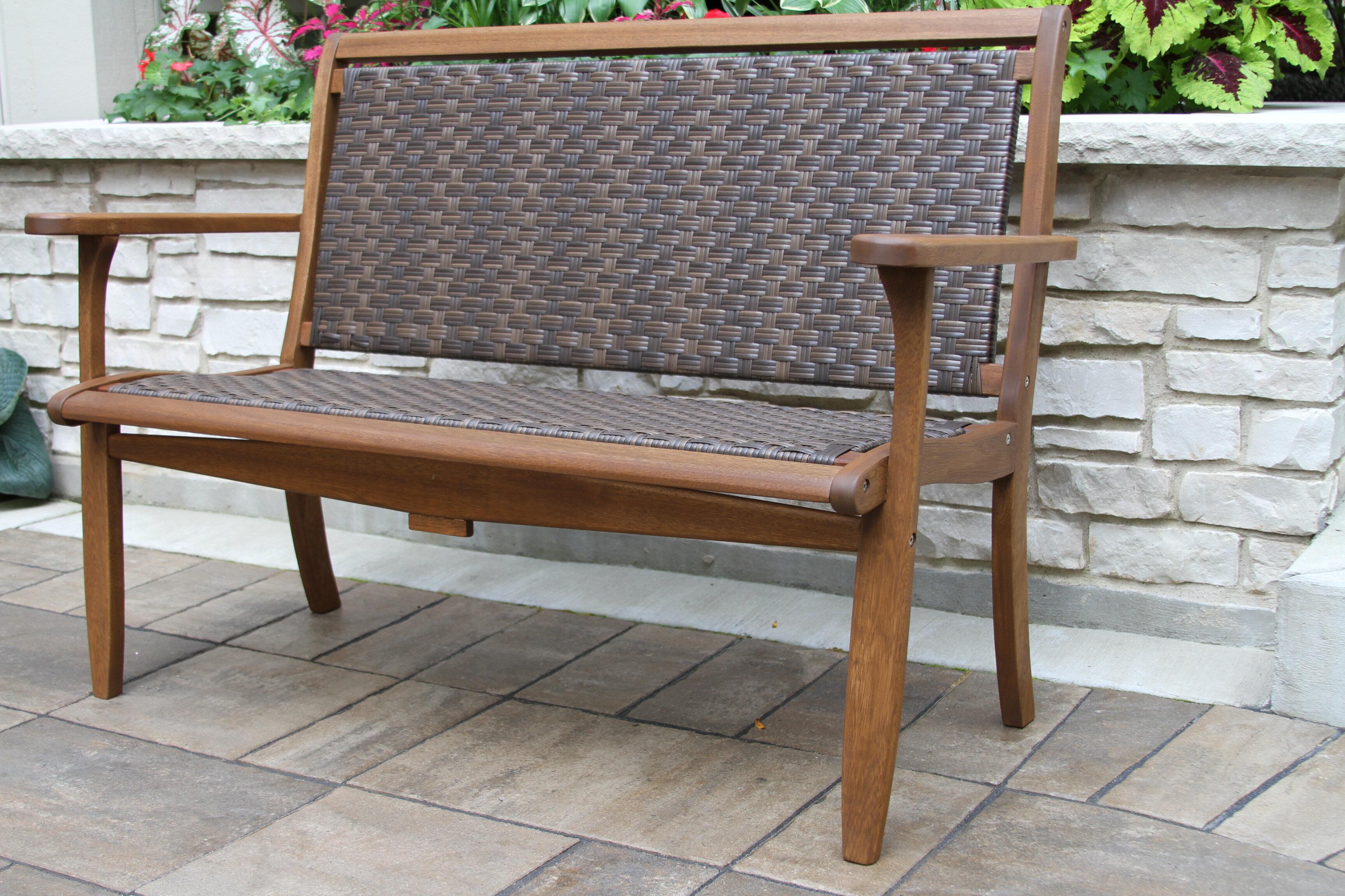 Nathen Lounger Wooden Garden Bench