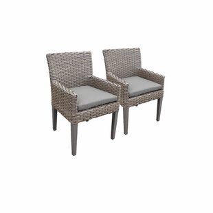 Monterey Patio Dining Chair with Cushion (Set of 2) by TK Classics