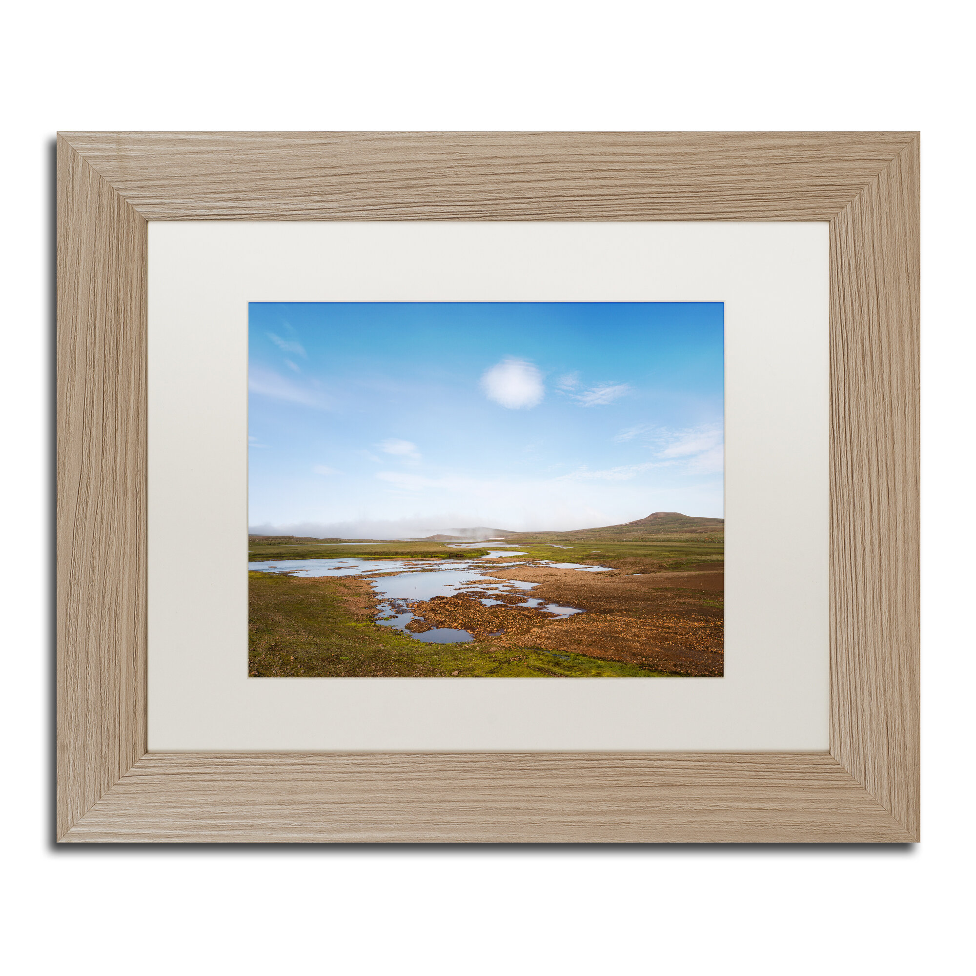 Trademark Art About Unknown Land Framed Photographic Print On Canvas Wayfair