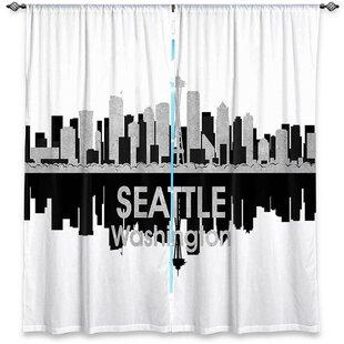 City IV Seattle Washington Angelina Vicks Room Darkening Curtain Panels Set Of 2