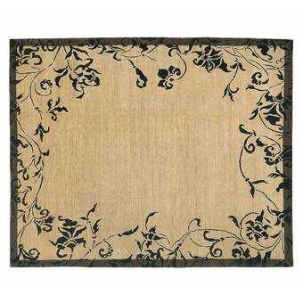 Tufenkian Donegal Branches Oriental Hand Knotted Wool Black Ivory Area Rug Wayfair