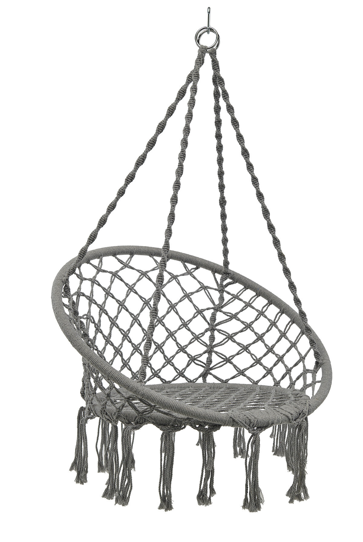 Dakota Fields Hammock Chair Swing Hanging Rope Seat Net Chair Tree Outdoor Porch Patio Indoor Grey Reviews Wayfair Ca