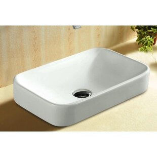 Looking for Ceramica Ceramic Rectangular Drop-In Bathroom Sink By Caracalla