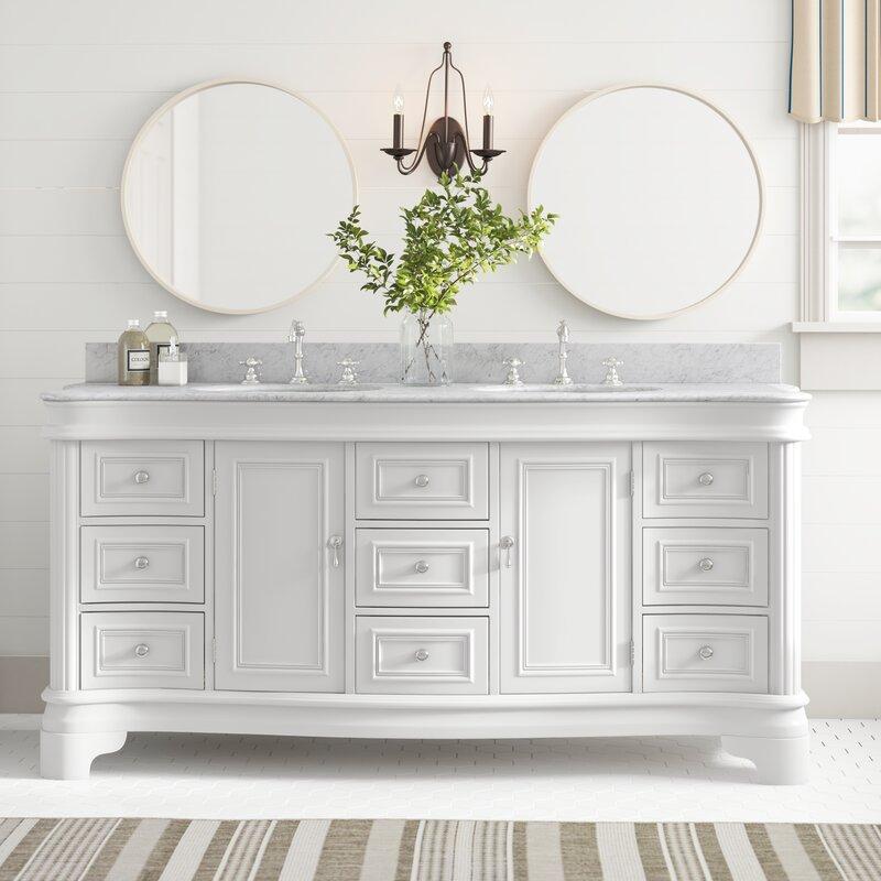 Birch Lane Rayshawn 72 Double Bathroom Vanity Set Reviews Wayfair