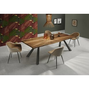 Zeus MT Dining Table with Wood Top