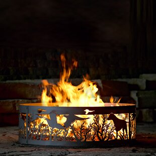Dog N Pheasant Steel Wood Burning Fire Ring by P & D Metal Works
