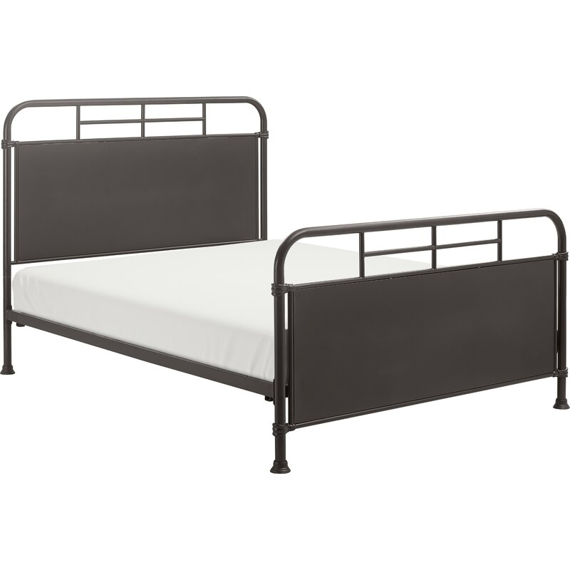 modern farmhouse black bed