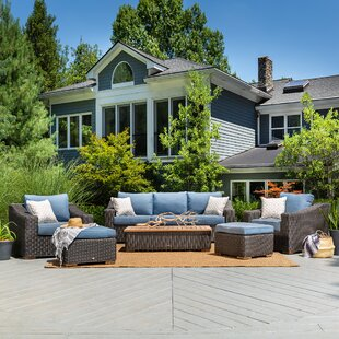 New Boston 6 Piece Sunbrella Seating Group with Cushions