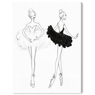 Ballerina Sketch Wall Art Wayfair