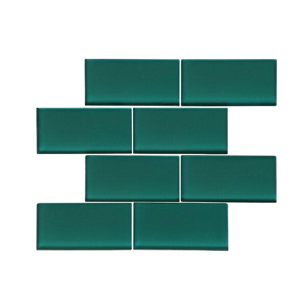 Ws Tiles Premium Series 3 X 6 Gl Subway Tile In Glossy Dark Teal Reviews Wayfair