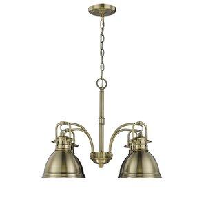 bodalla 4light shaded chandelier - Brass Chandelier