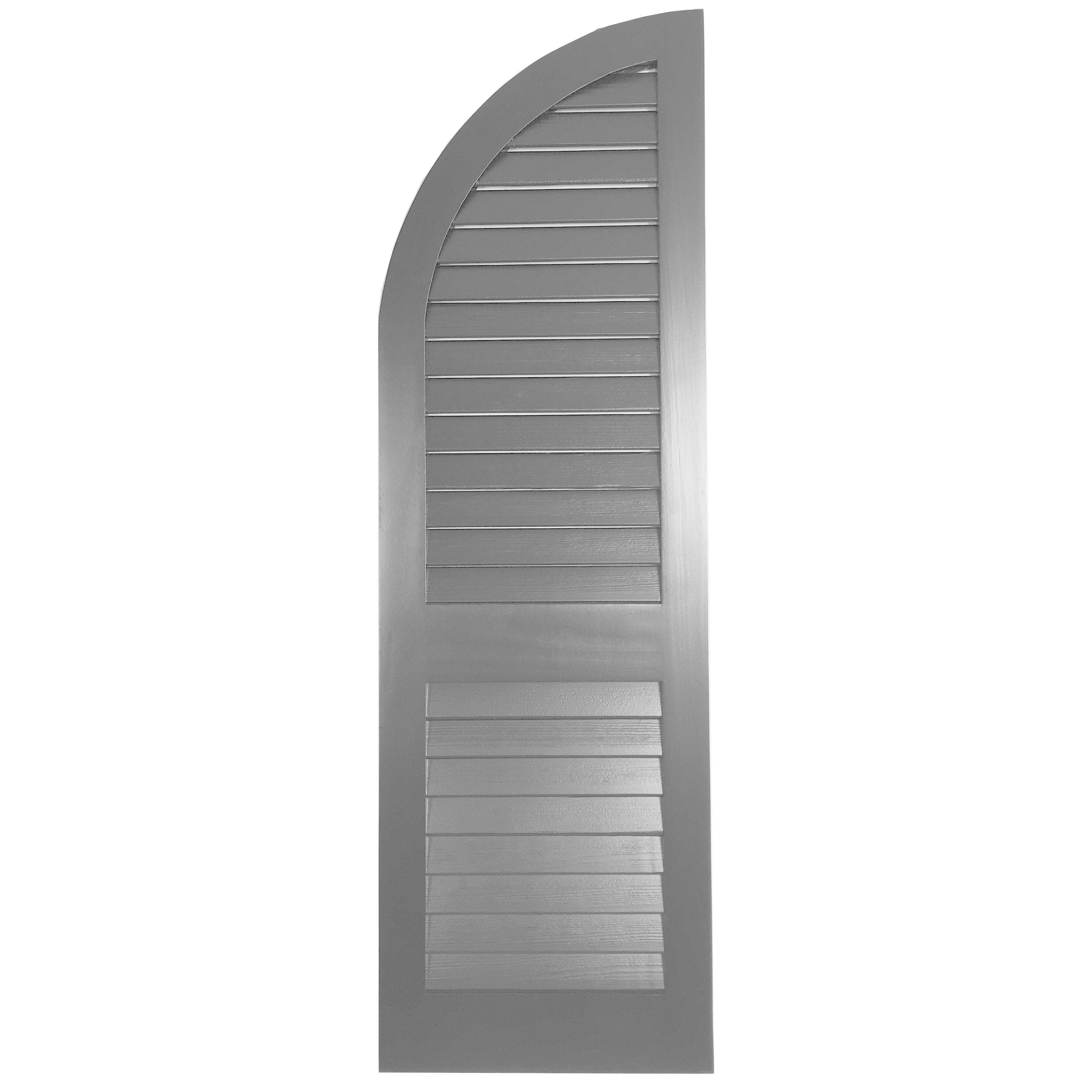 Shutters By Design Western Cedar Louver Arch Top Shutter Single Wayfair
