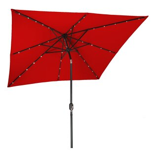 8' Square Lighted Umbrella