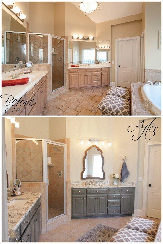 domestic charm bathroom makeover