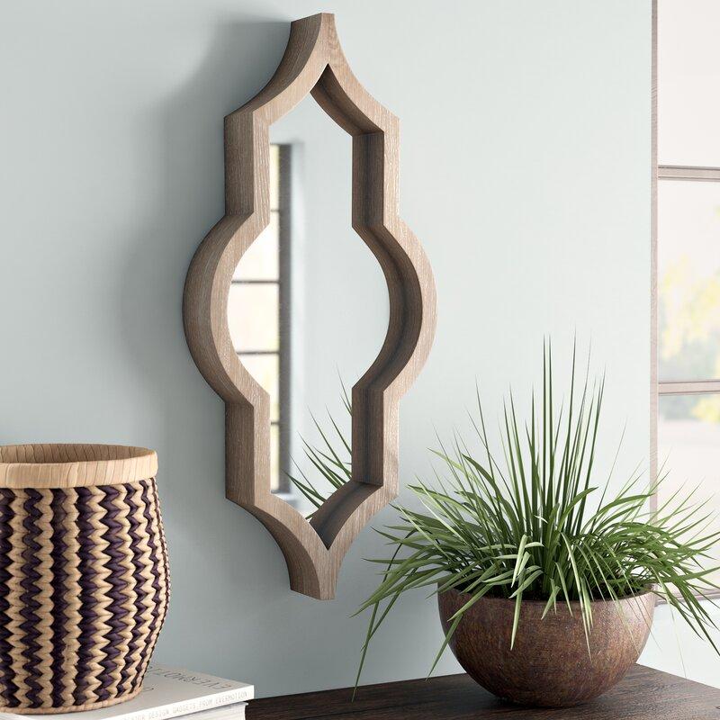 Mistana Padang Wood Framed Wall Mirror Reviews Wayfair