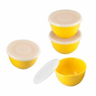 Bee Hive 8 Piece Melamine Mixing Bowl Set