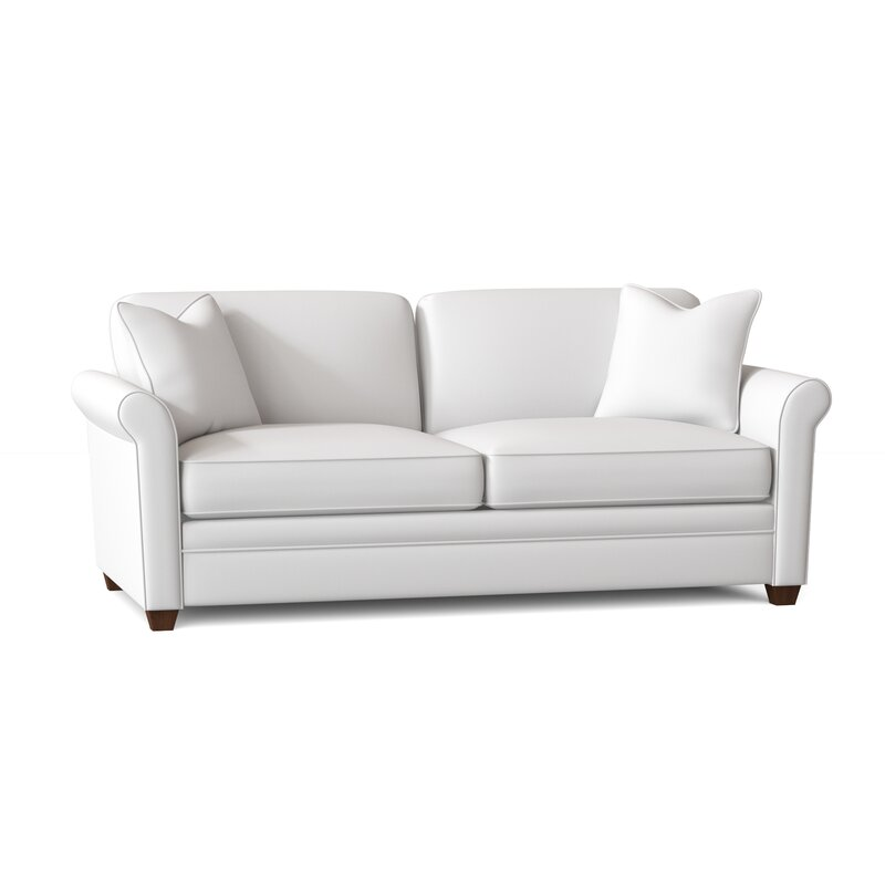 Wayfair Custom Upholstery Gloria 77 Rolled Arm Sleeper Reviews Wayfair