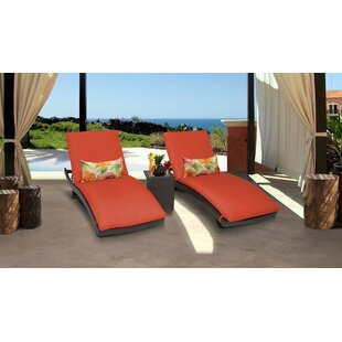 Meier Curved Sun Lounger Set with Cushions and Table