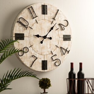 Wooden Spool Clock Wayfair