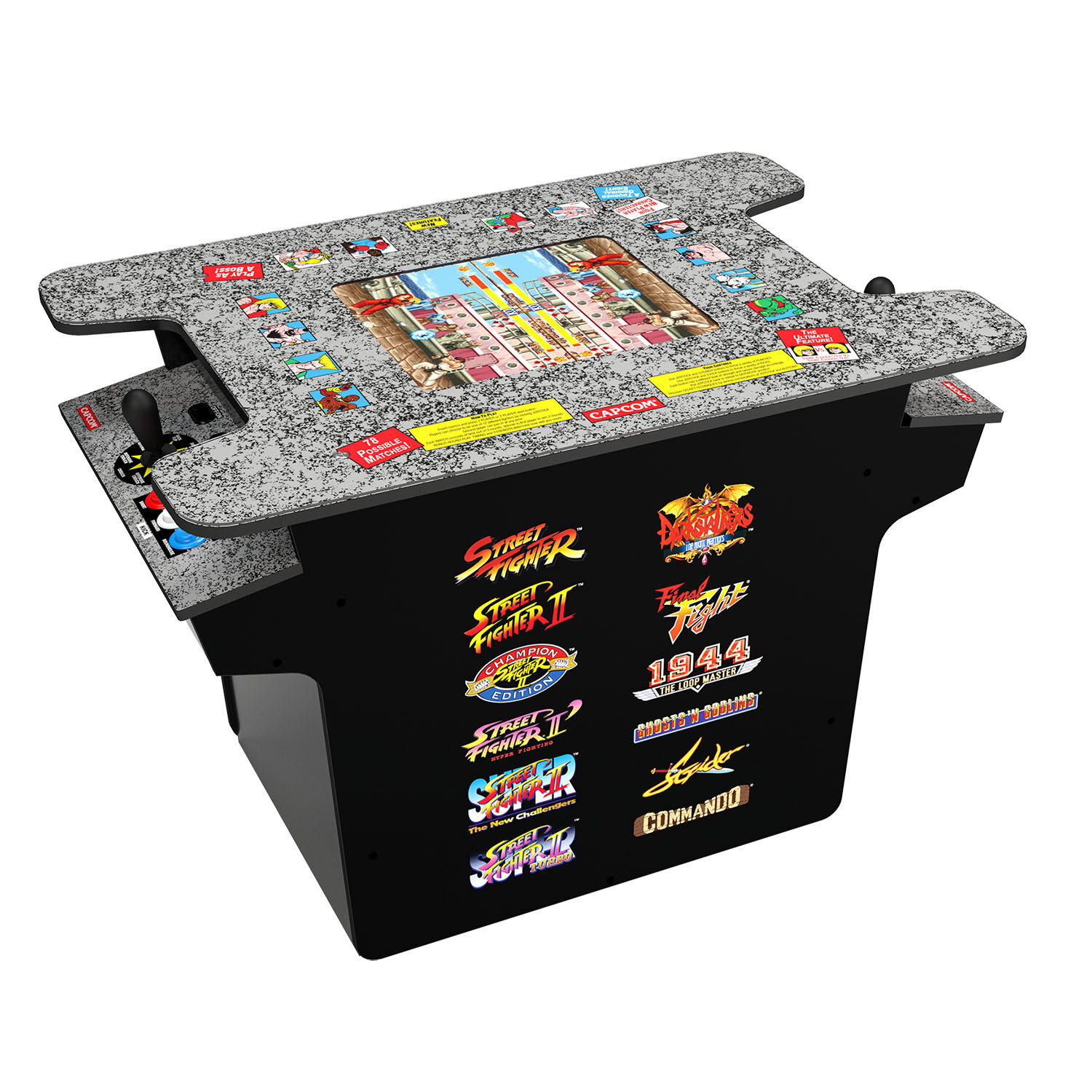 Arcade 1up Street Fighter 2 Head Table Countertop Arcade Game