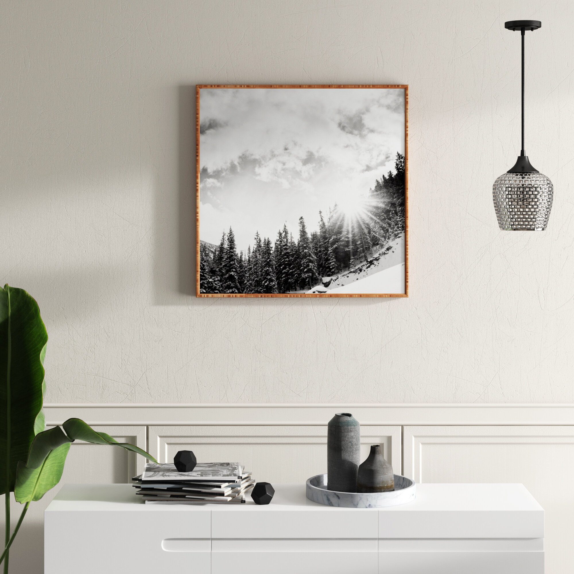 Mercury Row Mountain Picture Frame Photograph Print On Wood Reviews Wayfair