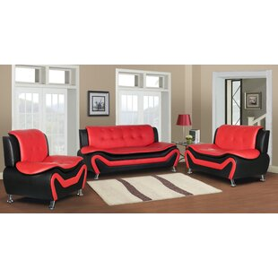 Find a Sifford 3 Piece Living Room Set by Orren Ellis Reviews (2019) & Buyer's Guide