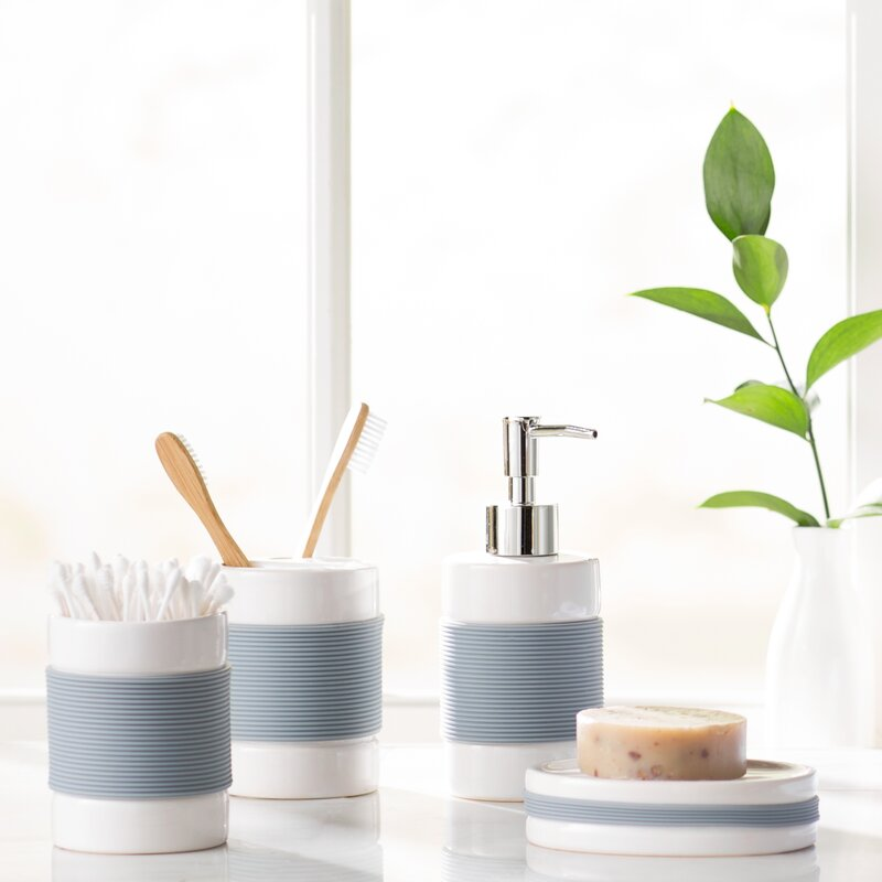the twillery co. hardy 4-piece bathroom accessory set
