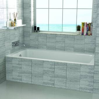 Fine Fixtures Alcove 66 X 32 Drop In Soaking Fiberglass Bathtub Reviews Wayfair