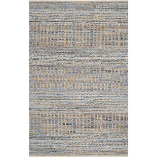 Bernd Hand Woven Natural Blue Area Rug