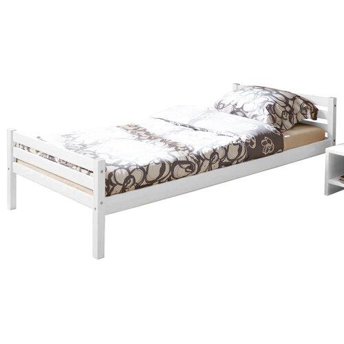 Einzelbett Nadine  90 x 200 cm   Schlafzimmer > Betten > Funktionsbetten   Weiß   Massivholz - Kiefernholz - Holz - Geölt - Massiver   TICAA