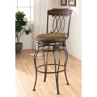 Barwick Swivel Bar Stool (Set of 2) Fleur De Lis Living