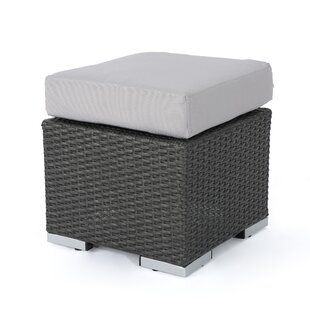 Cabral Outdoor Ottoman with Cushion