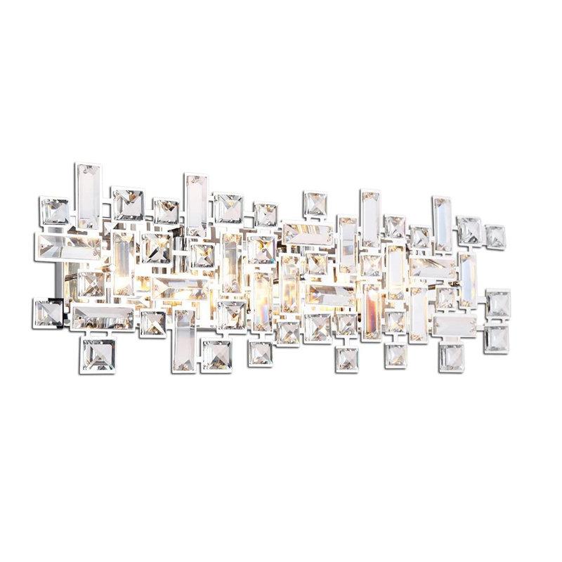 Mercer41 Iosten 4 Light Dimmable Chrome Vanity Light Wayfair