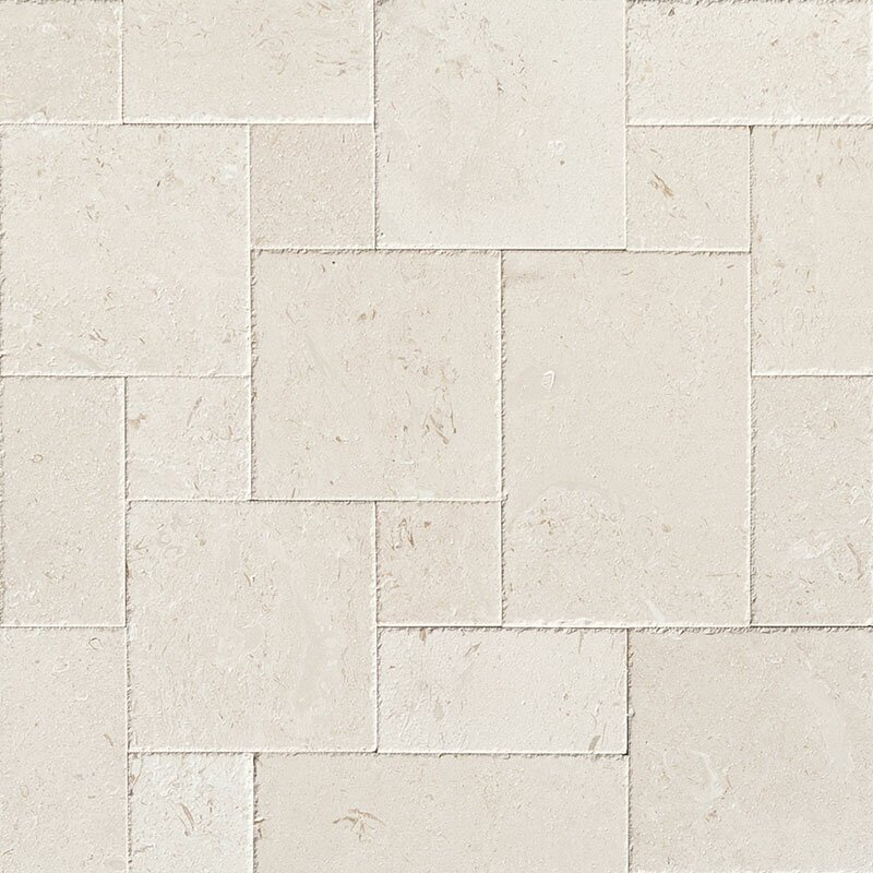 Random Sized Limestone Leather Look Tile in Beige