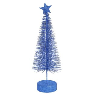 glitter sisal artificial table top christmas tree pack of 2