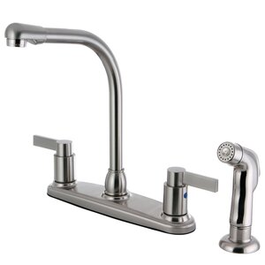 Nuvofusion Double Handle Kitchen Faucet with Side Sprayer