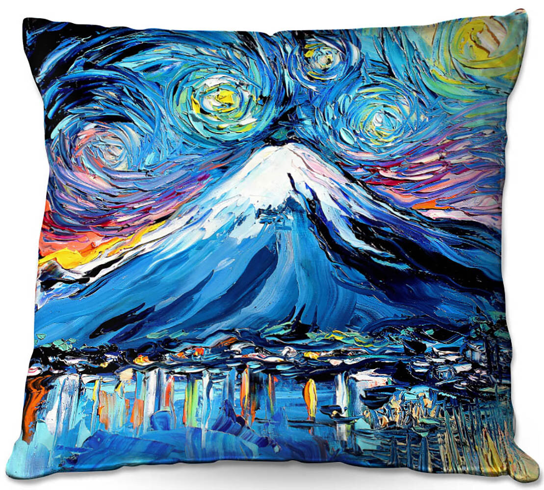 East Urban Home Couch Van Gogh Never Saw Mount Fuji Throw Pillow Wayfair