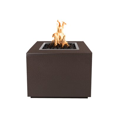 """The Outdoor Plus Forma Electronic Ignition Stainless Steel Fire Pit  Size: 24"""" H x 36"""" W x 36"""" D, Fuel Type: Natural Gas, Finish: Copper Vein Powder Co"""